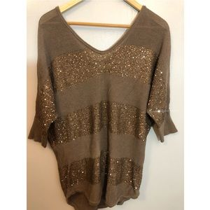 Brown and gold Express tunic